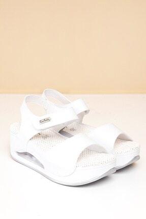 Pierre Cardin PC-1406 Beyaz Kadın Sandalet 0