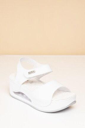 Pierre Cardin PC-1406 Beyaz Kadın Sandalet 1