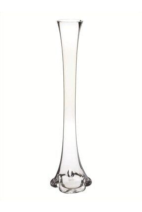 Nettenevime Fil Ayağı Vazo Cam Vazo 60cm Ince Belli Vazo 0