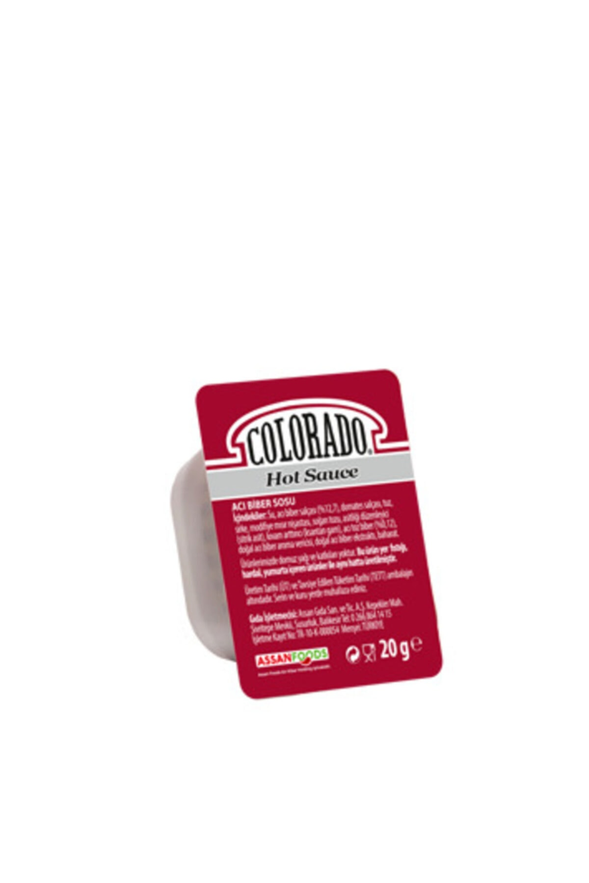 Küvet Hot Chili (ACI BİBER) Sos 120 X 20 gr