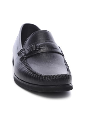 Kemal Tanca Hakiki Deri Siyah Erkek Casual Ayakkabı 637 240 EV ERK AYK 1
