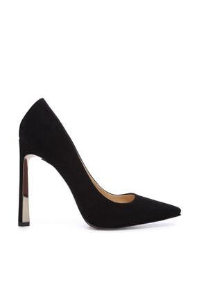 Kemal Tanca Siyah Kadın Vegan Klasik Topuklu Ayakkabı 22 2000 BN AYK 0
