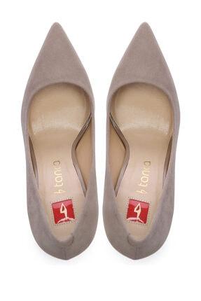 Kemal Tanca Bej Kadın Vegan Klasik Topuklu Ayakkabı 22 2000 BN AYK 3