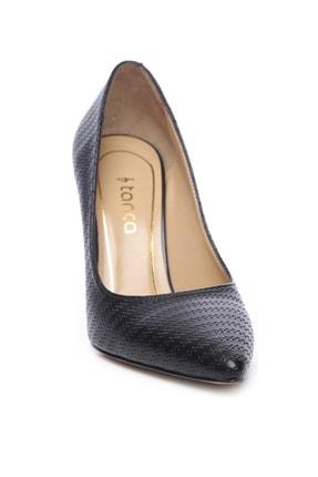 Kemal Tanca Hakiki Deri Siyah Kadın Stiletto Ayakkabı 22 943 BN AYK 1