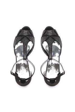 Kemal Tanca Siyah Kadın Vegan Klasik Topuklu Ayakkabı 592 2308 BN AYK 3
