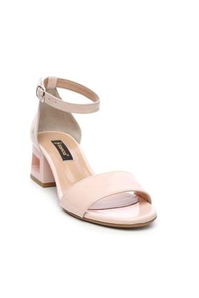 Kemal Tanca Bej Kadın Vegan Topuklu Ayakkabı 51 2029 BN AYK Y19 1