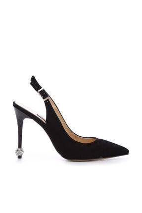 Kemal Tanca Siyah Kadın Vegan Klasik Topuklu Ayakkabı 22 6189 BN AYK Y19 0