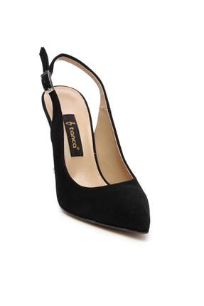 Kemal Tanca Siyah Kadın Vegan Klasik Topuklu Ayakkabı 22 6189 BN AYK Y19 1