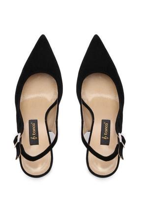 Kemal Tanca Siyah Kadın Vegan Klasik Topuklu Ayakkabı 22 6189 BN AYK Y19 4