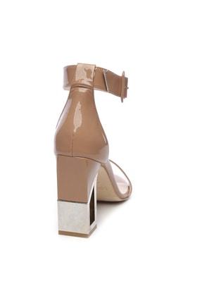 Kemal Tanca Hakiki Deri Bej Kadın Klasik Topuklu Ayakkabı 94 6500Y BN AYK Y19 1