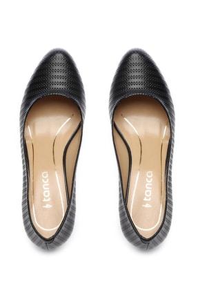 Kemal Tanca Siyah Kadın Vegan Klasik Topuklu Ayakkabı 723 2032 BN AYK Y19 3