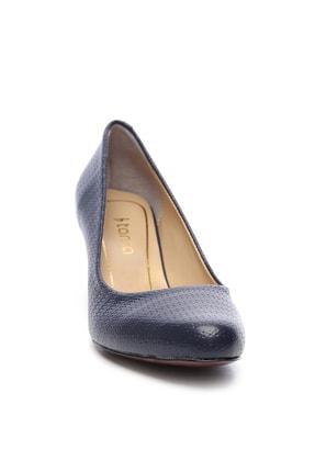 Kemal Tanca Lacivert Kadın Vegan Klasik Topuklu Ayakkabı 723 2032 BN AYK Y19 1