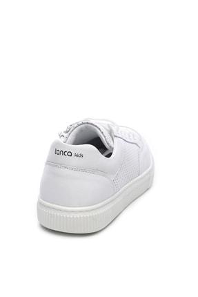 Kemal Tanca Hakiki Deri Beyaz Çocuk Ayakkabı 407 2040 CCK 31-36 Y19 1