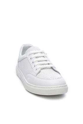 Kemal Tanca Hakiki Deri Beyaz Çocuk Ayakkabı 407 2040 CCK 31-36 Y19 2