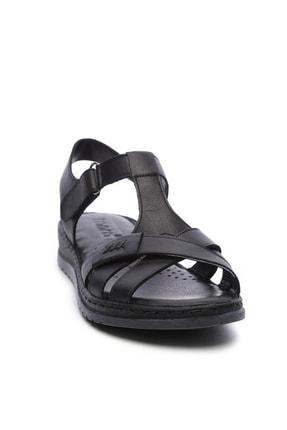 Kemal Tanca Hakiki Deri Siyah Kadın Comfort Sandalet 673 223 BN SNDLT Y19 3