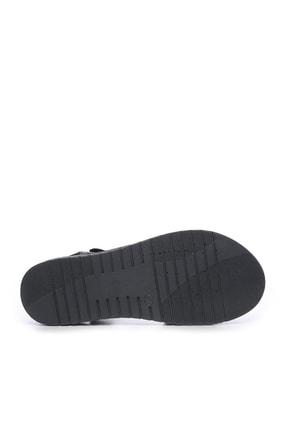 Kemal Tanca Hakiki Deri Siyah Kadın Comfort Sandalet 673 223 BN SNDLT Y19 4