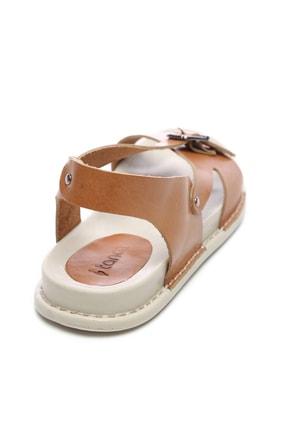 Kemal Tanca Hakiki Deri Kahverengi Kadın Sandalet Sandalet 539 1309 BN SNDLT Y20 2