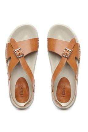 Kemal Tanca Hakiki Deri Kahverengi Kadın Sandalet Sandalet 539 1309 BN SNDLT Y20 3