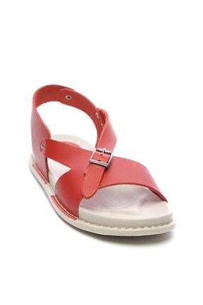 Kemal Tanca Hakiki Deri Kırmızı Kadın Sandalet Sandalet 539 1309 BN SNDLT Y20 1