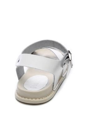 Kemal Tanca Hakiki Deri Beyaz Kadın Sandalet Sandalet 539 1308 BN SNDLT Y20 3