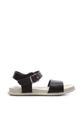 Kemal Tanca Hakiki Deri Siyah Kadın Sandalet Sandalet 539 1301 BN SNDLT Y20 0