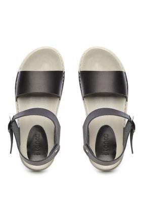 Kemal Tanca Hakiki Deri Siyah Kadın Sandalet Sandalet 539 1301 BN SNDLT Y20 3