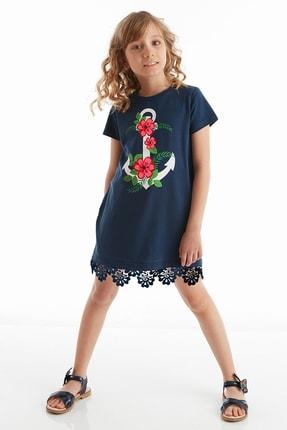 Çiçekli Çapa Kız Elbise resmi