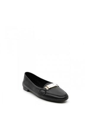 ShoeMaker Siyah Hakiki Deri Taş Toka Detay Kadın Babet 3