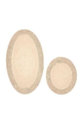 Alanur Home Alanur Salina Oval Cotton Makarnalı 2 Li Paspas Vizon 3