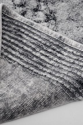 Alanur Home Alanur Salina Oval Cotton Makarnalı 2 Li Paspas Eskitme Gri 1