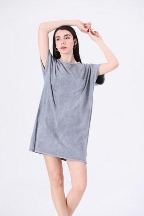 Canela Kadın Elbise Geniş Kalıp Gri 0