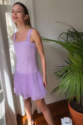 TRENDYOLMİLLA Lila  Piliseli Elbise TWOSS20EL2256 1