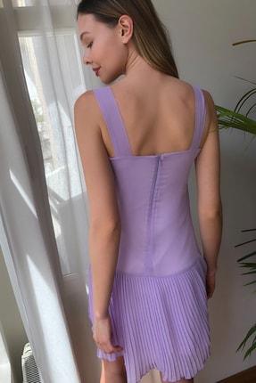 TRENDYOLMİLLA Lila  Piliseli Elbise TWOSS20EL2256 4
