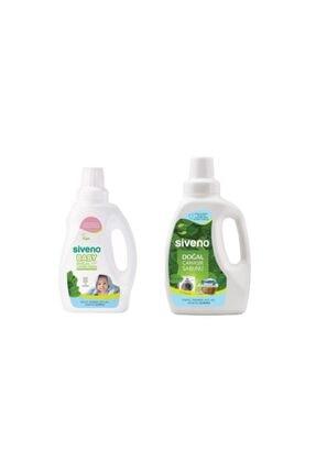 Siveno Bebek Çamaşır Sabunu 750 ml + Doğal Çamaşır Sabunu 750 ml 0