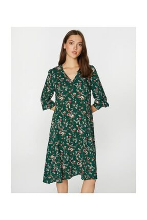 Faik Sönmez Kadın Desenli Elbise 39243 3