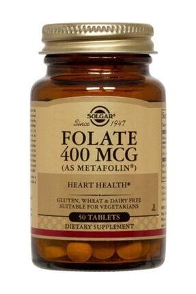 Solgar Folate (Metafolin®) 400 Mcg 50 Tablet 033984019409 0