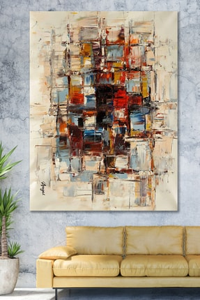 Hediyeler Kapında 70x100 Renkler Sürreal Sanatsal Kanvas Tablo 0