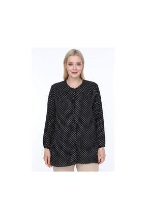 NEW WORLD Newworld Kadın Büyük Beden Gömlek Bluz Düğmeli 0