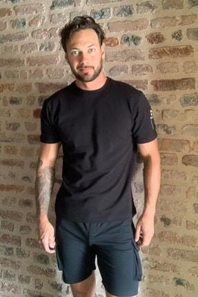 TRENDYOL MAN Siyah Erkek Fermuar Detaylı T-Shirt TMNSS20TS1795 3