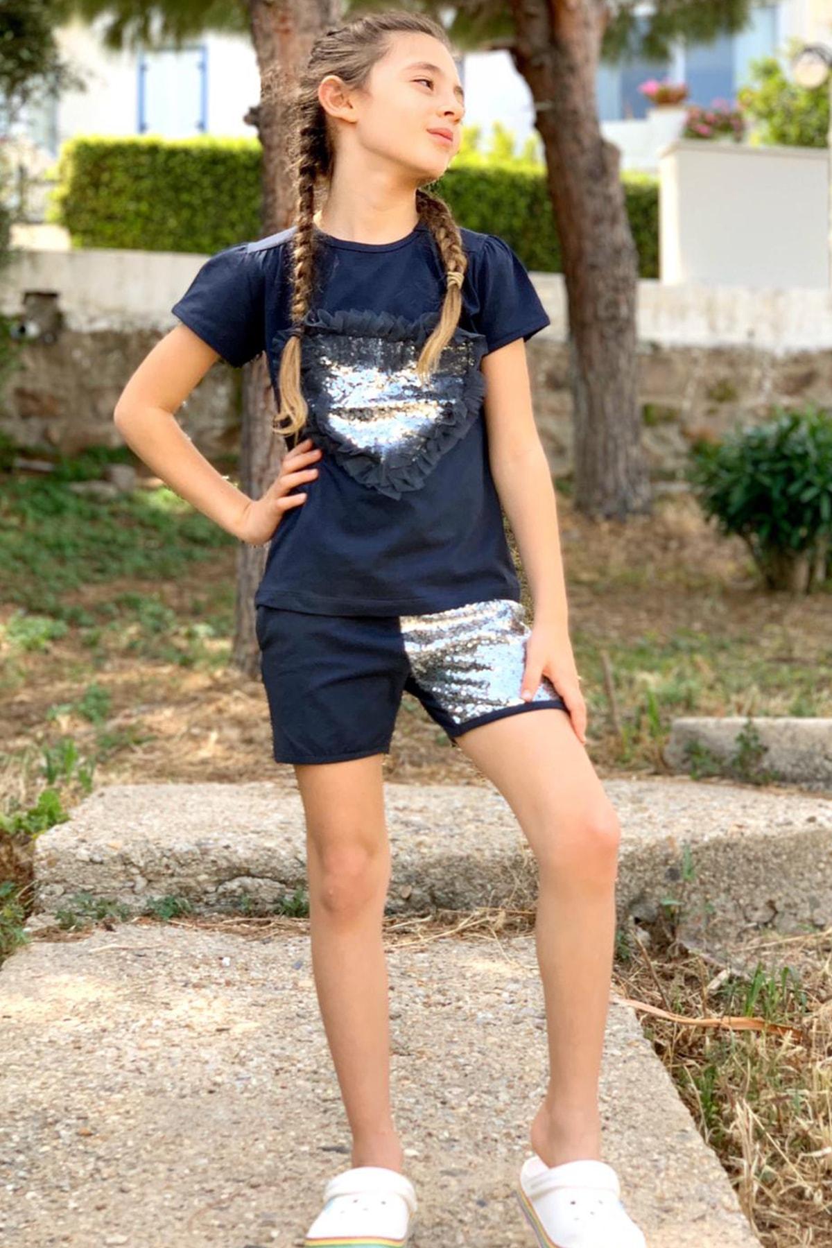 Colorinas Love Tutu Patch Tshirt Kısa Kol Füme 2