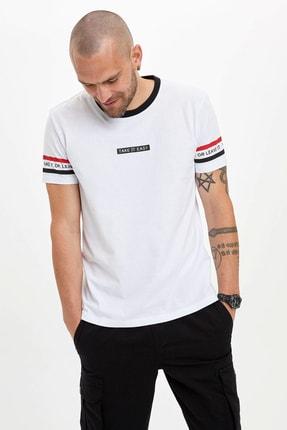 Defacto Erkek Beyaz Baskılı Regular Fit T-Shirt N4571AZ.20SM.WT34 0