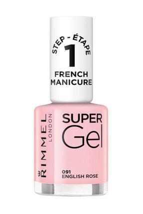 Rimmel London Oje - Super Gel French Manicure 091 English Rose 12 ml 30121553 0