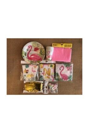 Deniz Party Store Flamingo Temalı Doğum Günü Seti Parti Seti 1