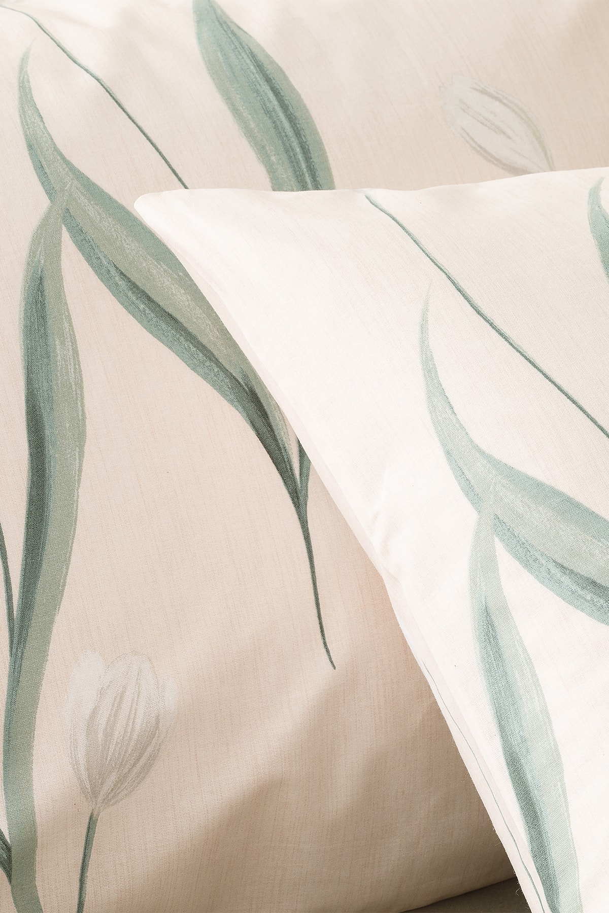 Tulip Garden Pamuklu 2'li Yastık Kılıfı 50x70 cm. Pembe