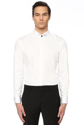 Network Erkek Slim Fit Beyaz Gömlek 1074789 0