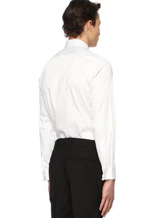 Network Erkek Slim Fit Beyaz Gömlek 1074789 2