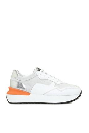 Network Kadin Beyaz Turuncu Sneaker 1074693 Trendyol
