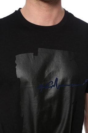 Network Erkek Slim Fit Siyah Tshirt 1074389 3