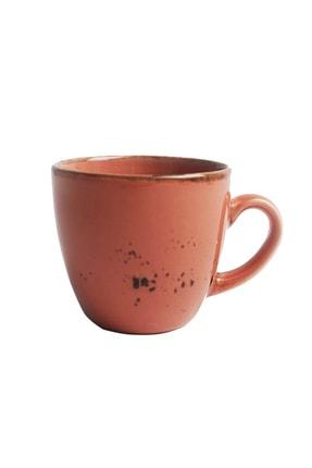 Tulü Porselen Luna Pembe 6 Kişilik Kahve Fincan Takımı 1