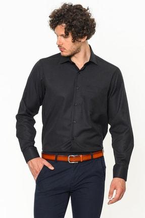 Picture of Büyük Beden Siyah Erkek Gömlek